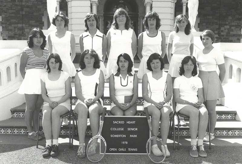 1978 Open Girls Tennis Sacred Heart College Adelaide