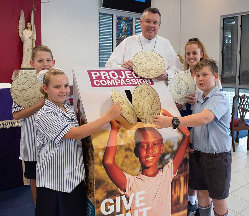 2020 Townsville Catholic Education Caritas Launch with Most Rev Tim Harris Bishop of the Townsville Diocese