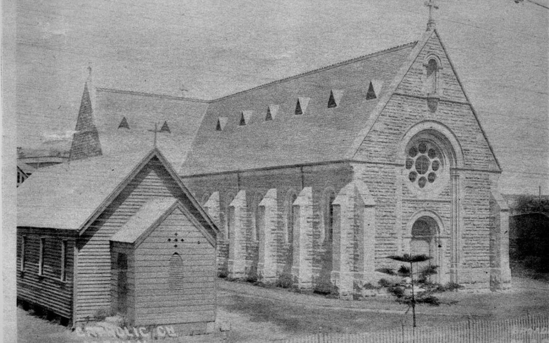 St Mary's Catholic Primary School and Church Manly in 1909