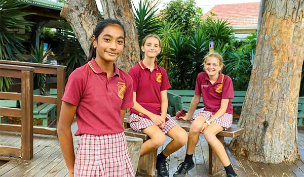 Students at Holy Name Primary School, Forster