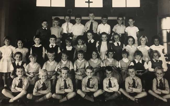 First class students at St Xavier's Gunnedah, Diocese of Armidale in 1956