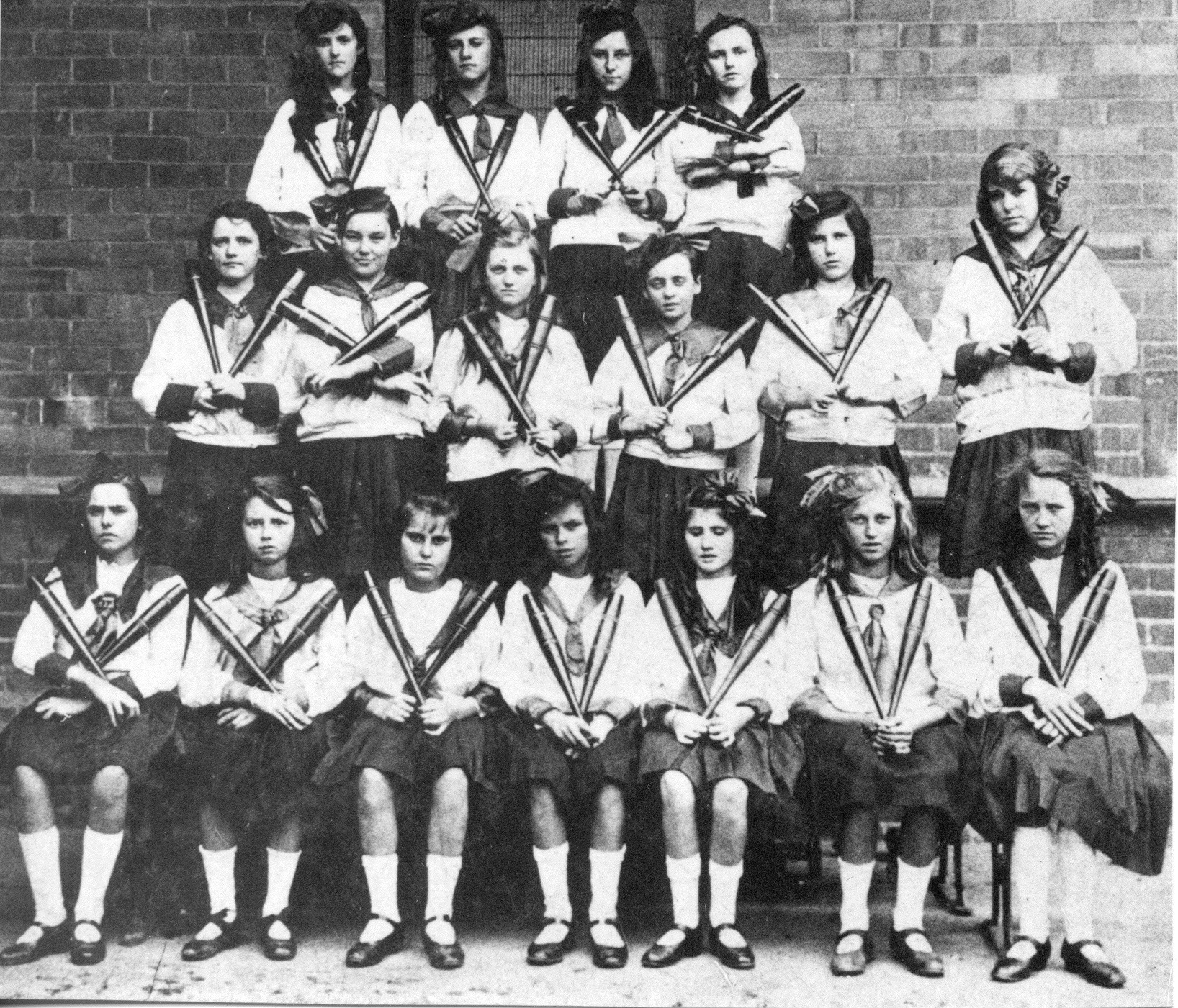 Students at St James Catholic Primary School Forrest Lodge circa 1922 - 1923