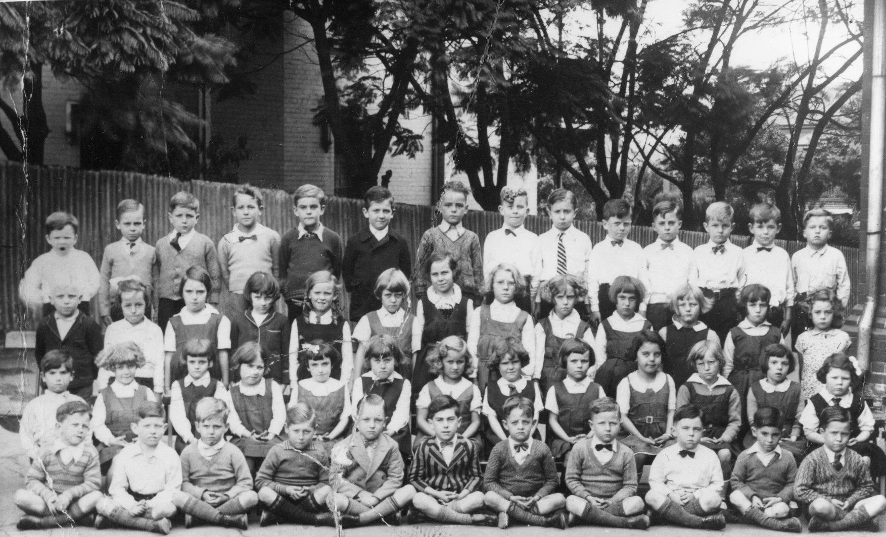 Students at St James Catholic Primary School Forest Lodge students circa 1935