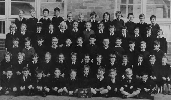 Year 2 students at St Mary's Catholic Primary School Manly in 1963