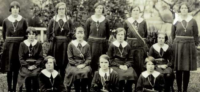 Students at Our Lady of Sion School Warragul, Victoria circa 1920