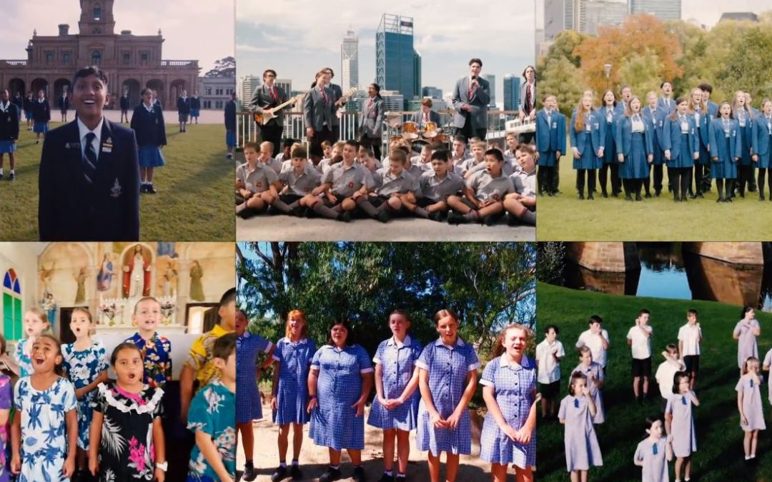 Students raise their voices to celebrate the bicentenary of Catholic education in Australia