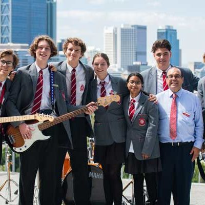 Students from Sacred Heart College Sorrento, filmed in iconic locations across Perth WA. Source Catholic Education Western Australia