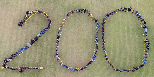 200 students from Sacred Heart Primary Casterton, St Joseph's Primary Coleraine, St Malachy's Primary Edenhope, St Patrick's Primary Nhill and Our Lady Help of Christians Murtoa. Source Catholic Education Ballarat.