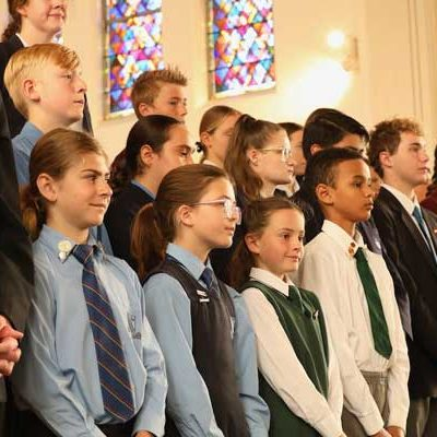 Students at St John Vianney Co-Cathedral in Fairy Meadow. Source Catholic Education Diocese of Wollongong.