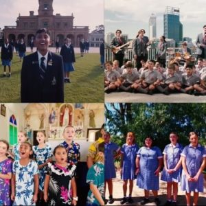 Catholic students from across the Australia have joined together in a video performance of the national song 'Faith in the Future'.
