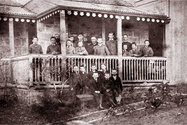 Fr Dalton with staff & students Saint Ignatius' Riverview in 1880