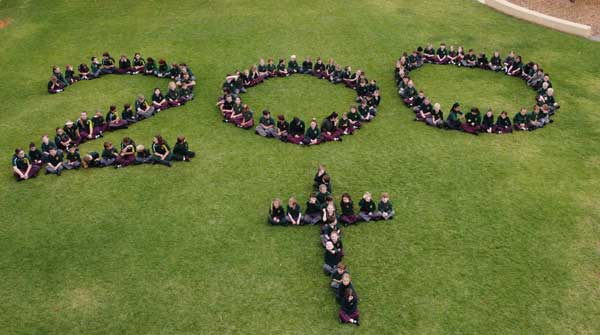 Students at Our Lady of the Sacred Heart Primary School, Merbein, Diocese of Ballarat VIC