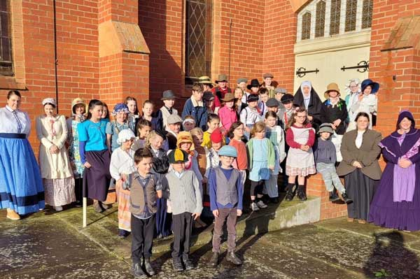St Brendan's Catholic Primary School, Coragulac students and staff dress in historical costume, Diocese of Ballarat
