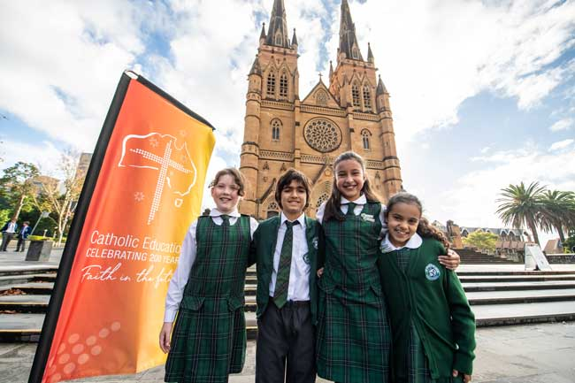 St Francis of Assisi Regional Catholic Primary School Paddingtonstudents at St Mary's Cathedral Sydney, NSW. Photo by Giovanni Portelli.