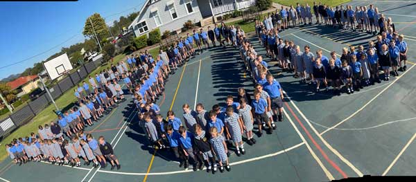 Students at St Joseph's Primary School Wauchope, NSW Diocese of Lismore