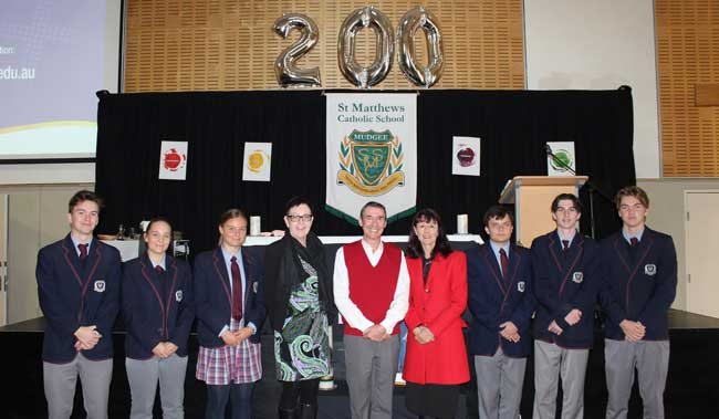Students and staff celebrate at St Matthews Mudgee, Diocese of Bathurst NSW