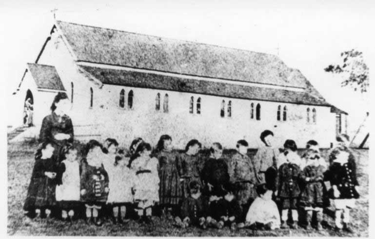 Early image of St Patrick's School Toowoomba