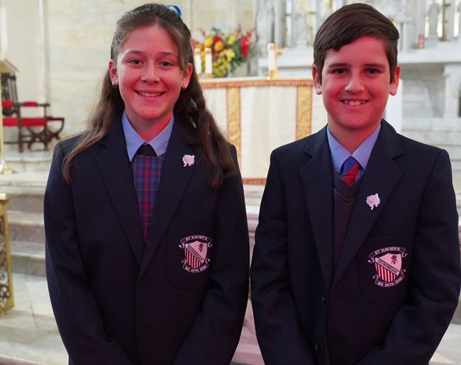St Xavier's Gunnedah students at St Mary & Joseph's Cathedral, Diocese of Armidale
